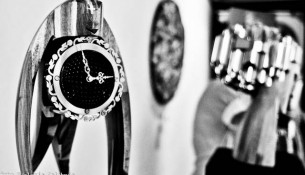 The beautifull watches of the artist Matej Zorec during his art exhibition in Florence