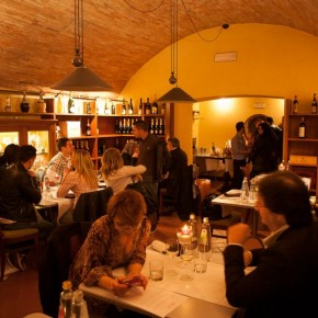 a dinner in the cellar
